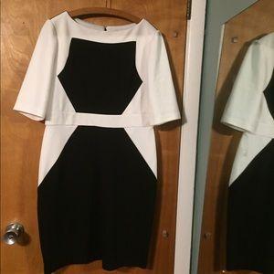 Studio One black/white pencil dress